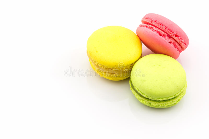 Sweet and colourful french macaroons or macaron. royalty free stock photos