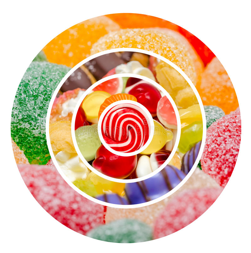 Sweet Confectionery Background Collage royalty free stock image