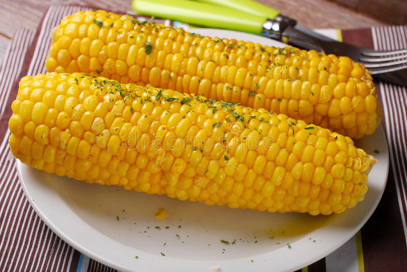 Download Sweet Corn With Butter And Herbs Stock Photo - Image: 43614694