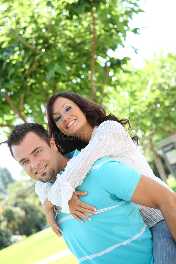 Sweet couple in love stock photography