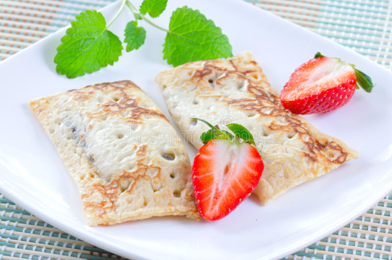 Download Sweet crepes stock image. Image of pancakes, warm, plates - 18312323