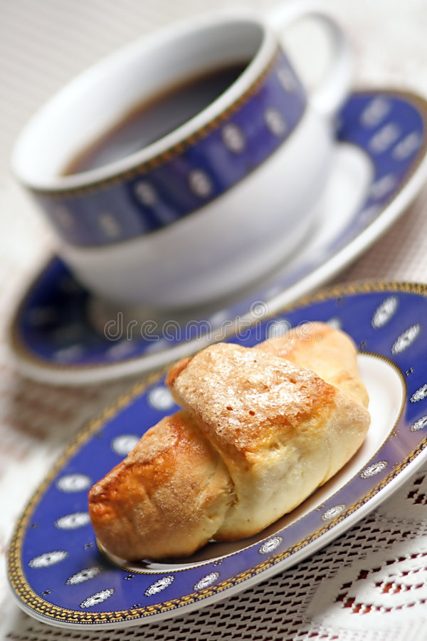 Download Sweet Croissant - Coffee Break. Stock Image - Image: 1341837