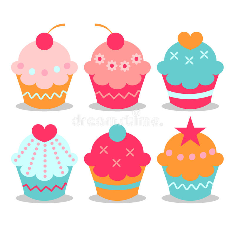 Download Sweet cupcakes stock vector. Image of baby, star, cupcake - 25423001