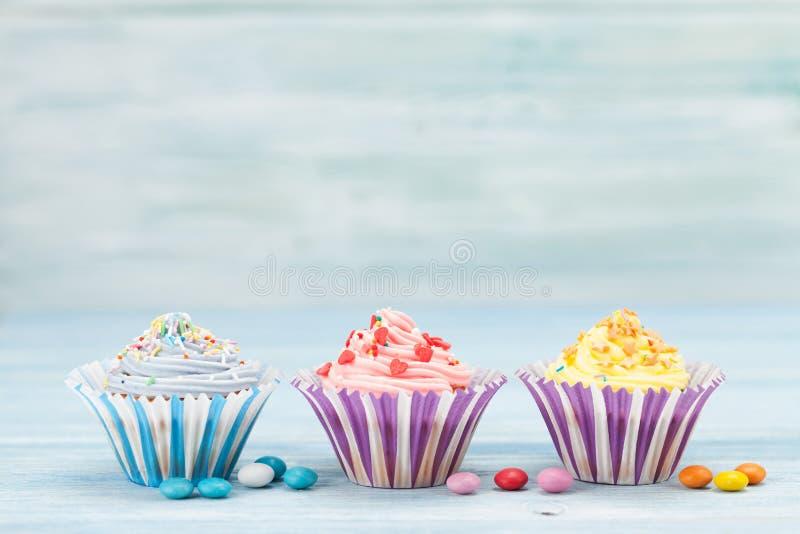 Sweet cupcakes royalty free stock photos