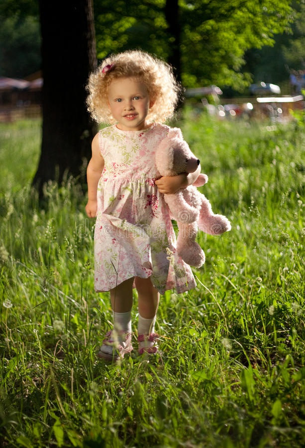 Sweet curly girl. royalty free stock image