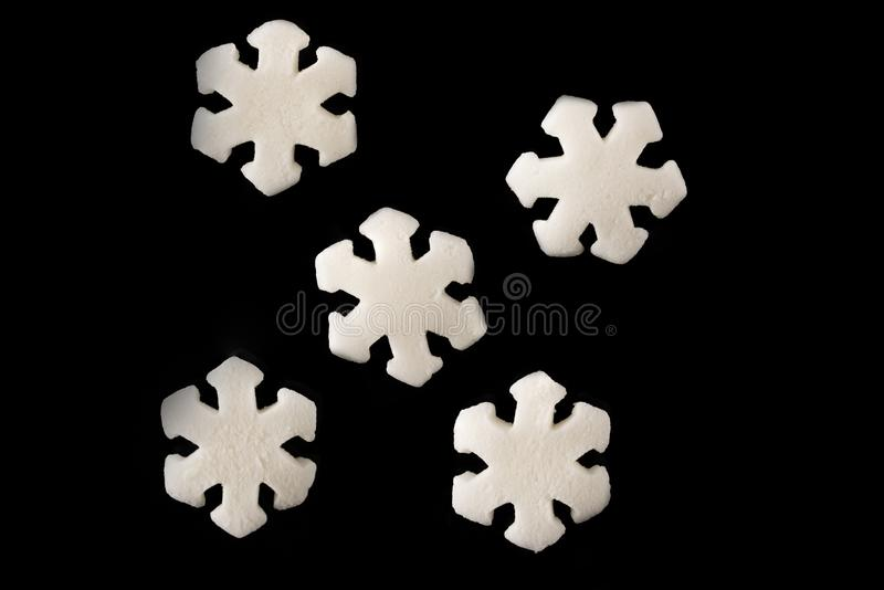 Sweet decoration for confectioners snowflakes stock image