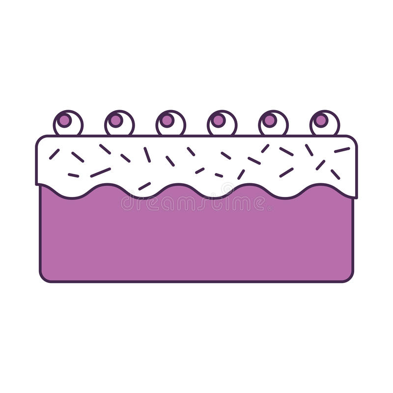 Sweet and delicious cake. Vector illustration design stock illustration