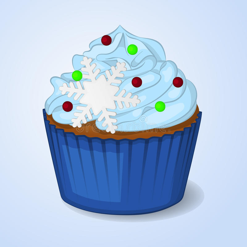 Download Sweet And Delicious Christmas Cupcake For New Year Design. Simple Cartoon Style. Stock  sc 1 st  Dreamstime.com & Sweet And Delicious Christmas Cupcake For New Year Design. Simple ...