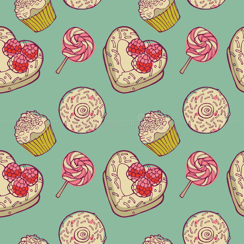 Download Sweet dessert background stock illustration. Image of drawing - 16097365