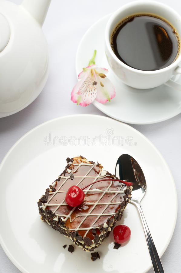 Download Sweet dessert and coffee stock photo. Image of gourmet - 21393376