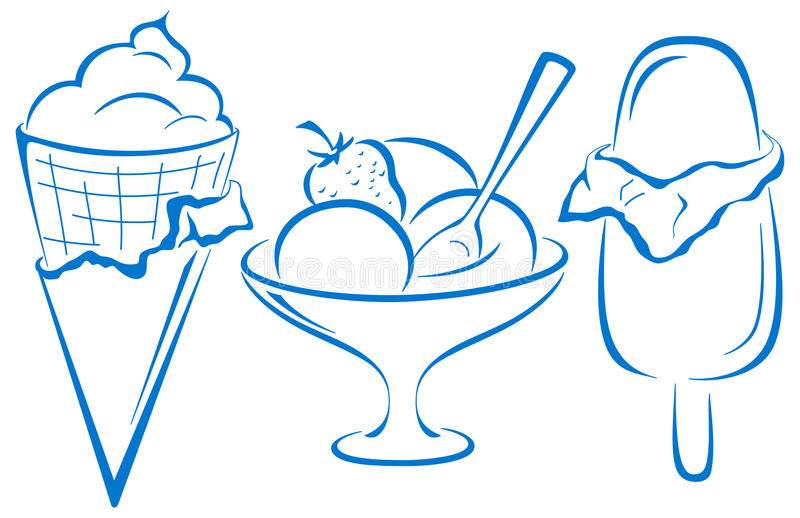 Download Ice-cream, set stock vector. Image of chocolate, cutout - 30116545
