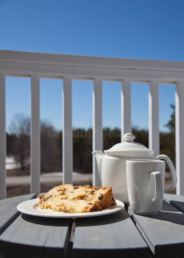 Download Sweet dessert on a patio stock image. Image of drink, outside - 8753005