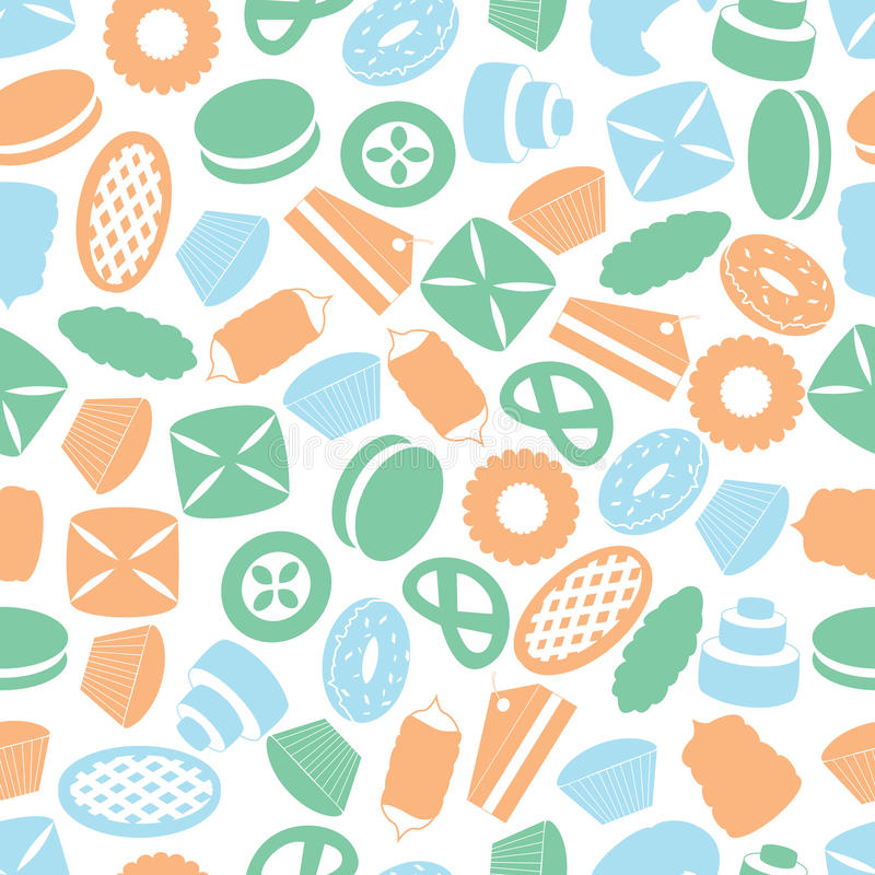 Sweet desserts color pattern. Sweet desserts colorful pattern eps10 stock illustration