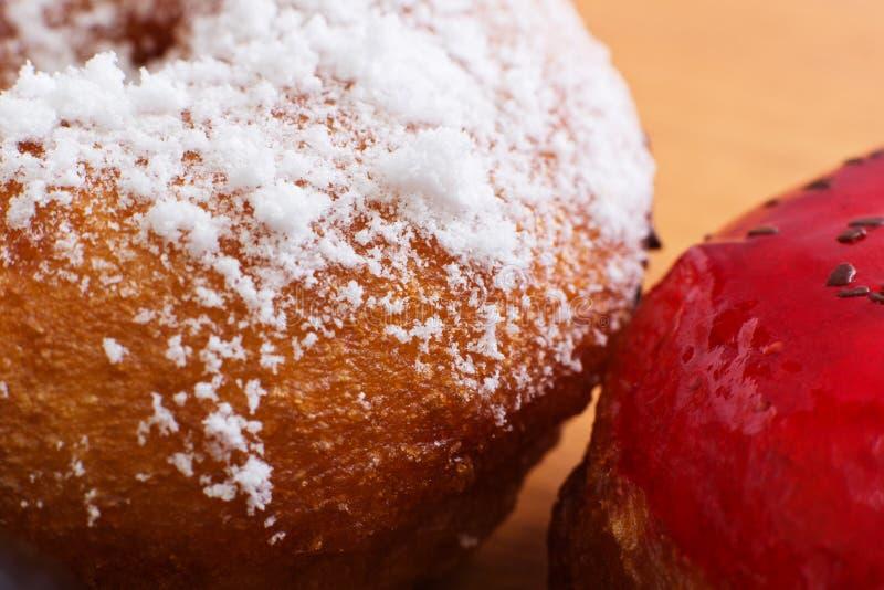 Sweet donuts close-up.