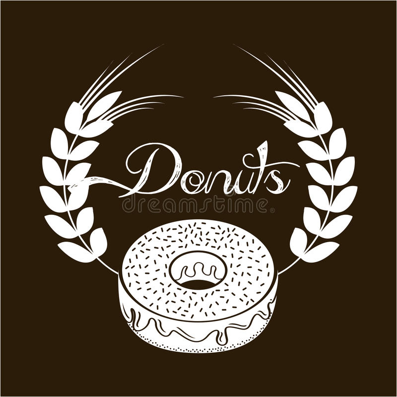 Sweet donuts royalty free illustration