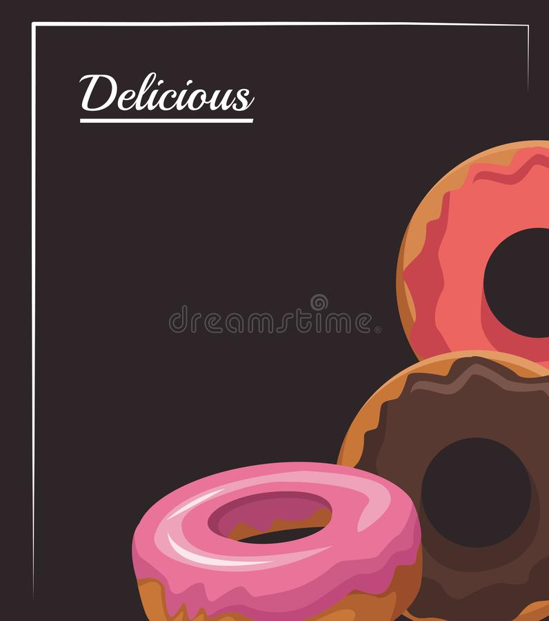 Sweet donuts icon, colorful design royalty free illustration