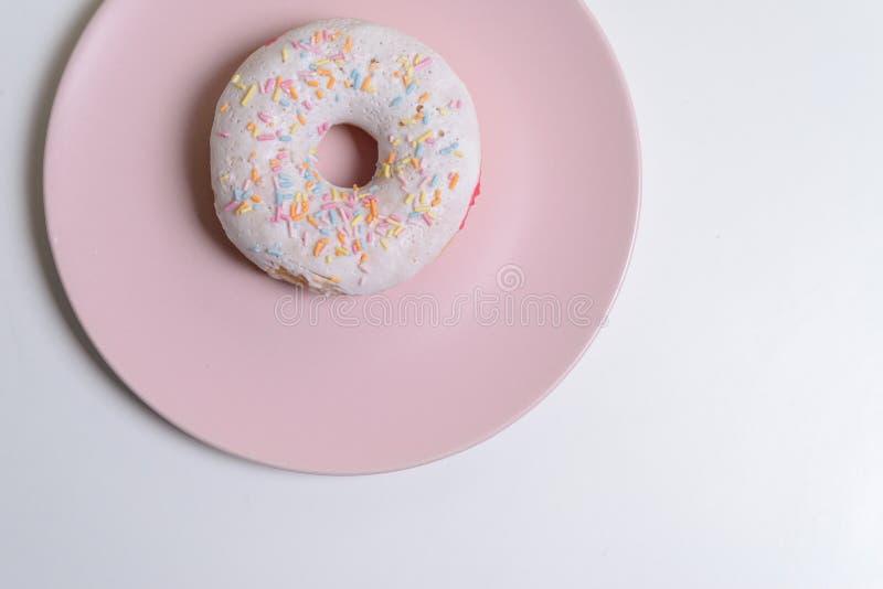 Sweet doughnut isolated over white royalty free stock photo