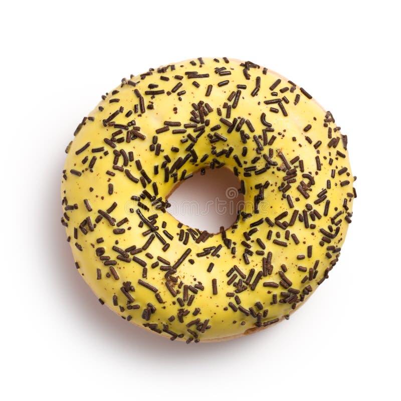 Sweet doughnut on white stock photo