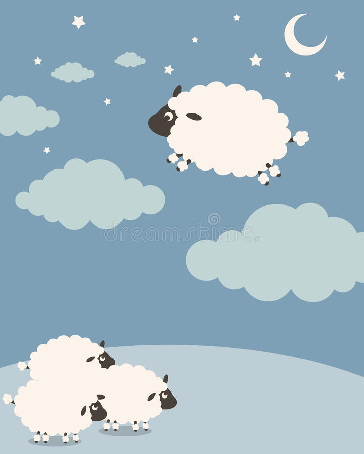 Download Sweet Dreams stock vector. Image of animal, group, insomnia - 10094751