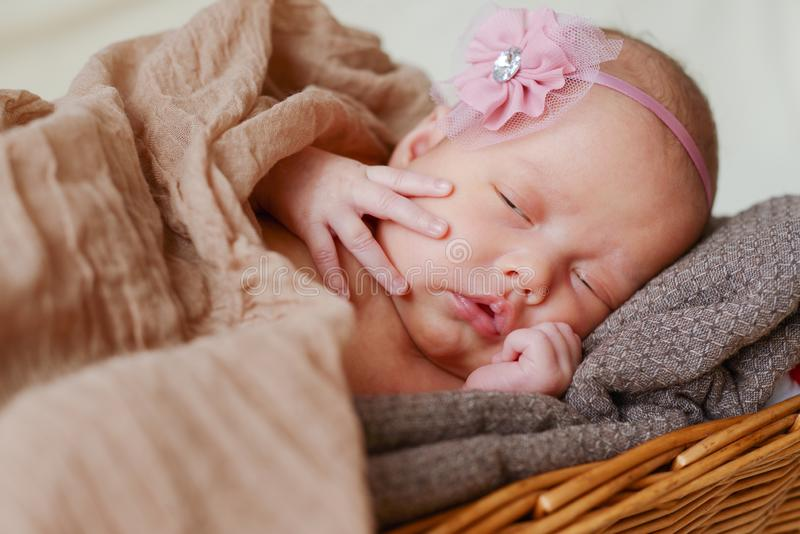 Sweet dreams of  baby royalty free stock photography