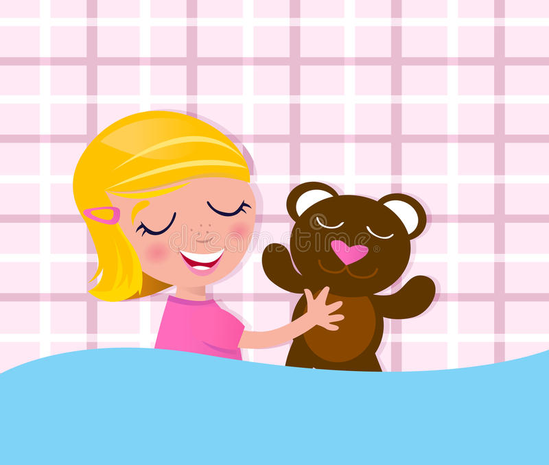 Download Sweet Dreams: Sleeping Child & Teddy Bear Royalty Free Stock Photo - Image: 19847575