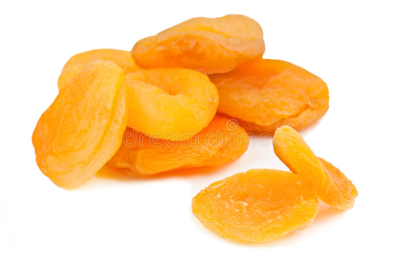 Sweet dried apricots royalty free stock image