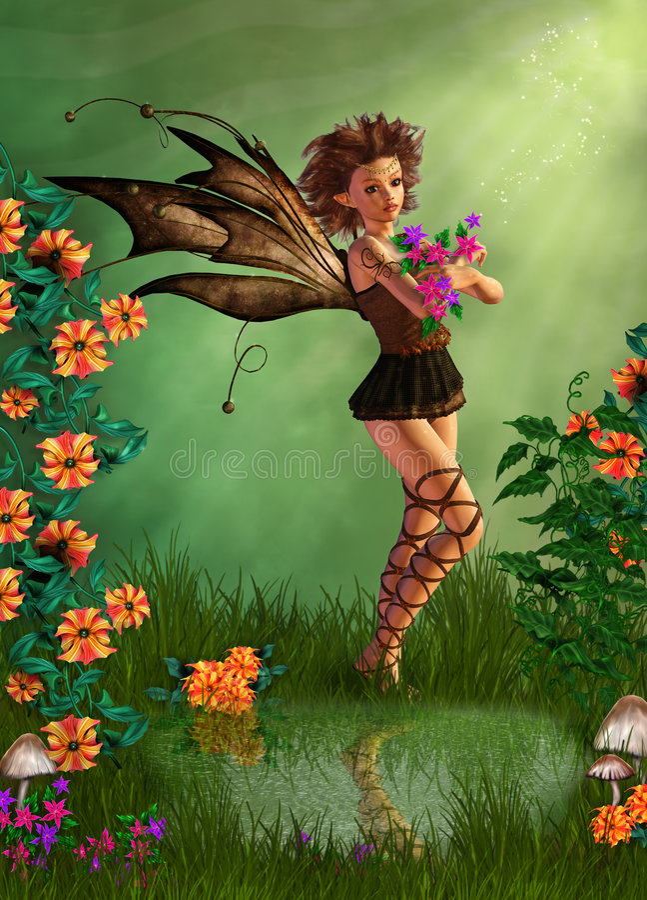 Sweet fairy royalty free illustration
