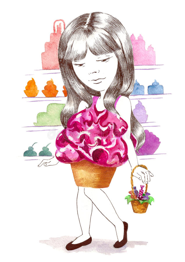 Download Sweet fashion stock illustration. Image of fashion, sponge - 22396492