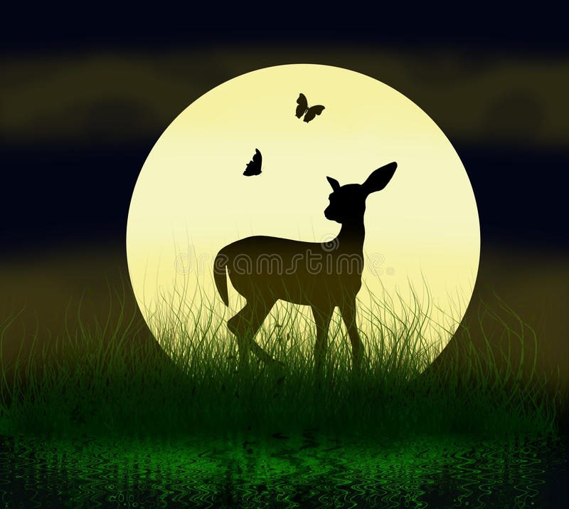 Download Sweet fawn stock illustration. Image of beautiful, background - 9795123