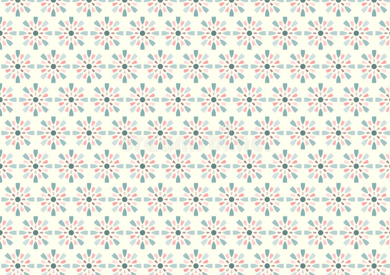 Sweet Fireworks and Circle Pattern on Pastel Background vector illustration