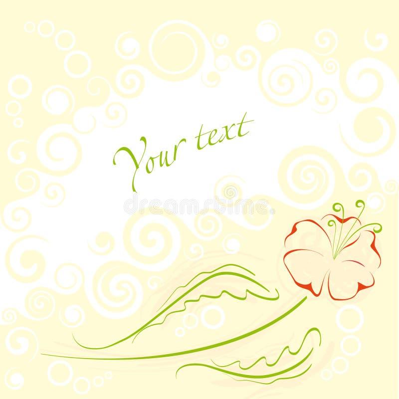 Sweet flower frame royalty free stock image