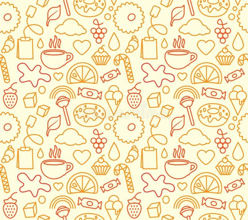 Sweet Food Seamless Stock Photo