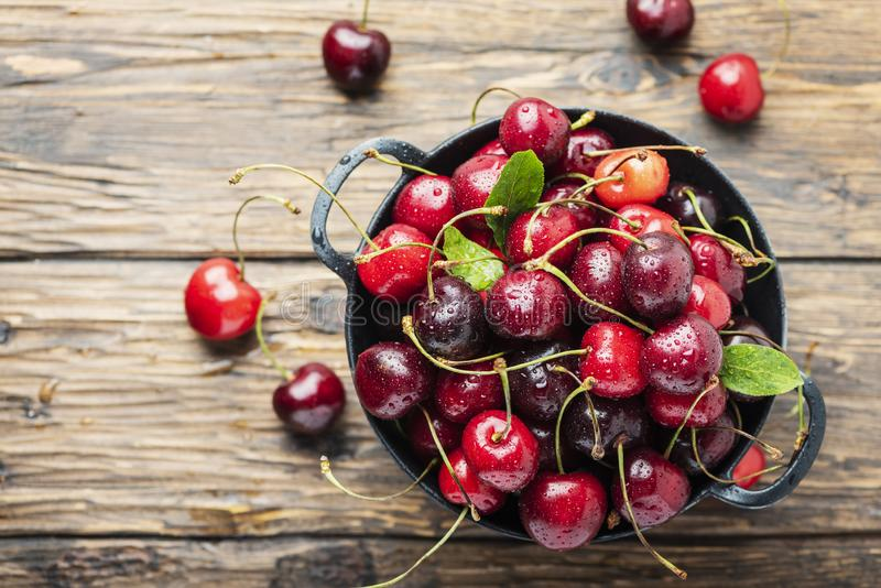 Sweet fresh cherry stock images