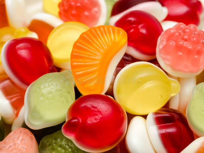 Sweet Fruit Jelly. Background Close Up stock photo