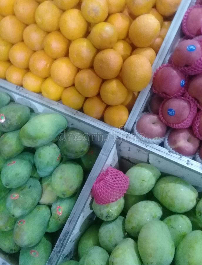 Sweet fruits in the basket royalty free stock photography