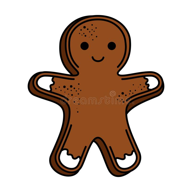 Sweet ginger cookie icon. Vector illustration design royalty free illustration