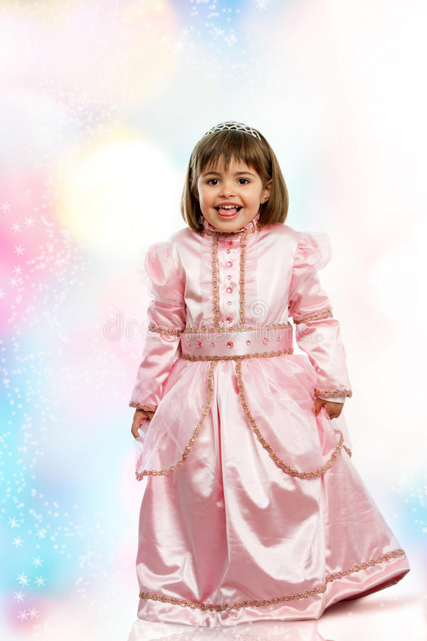 Sweet girl dressed up as princess. royalty free stock photos