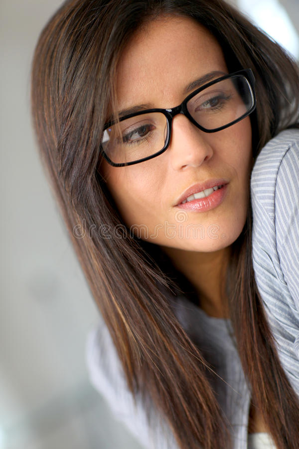 Download Sweet girl with eyewear stock image. Image of looking - 22787723