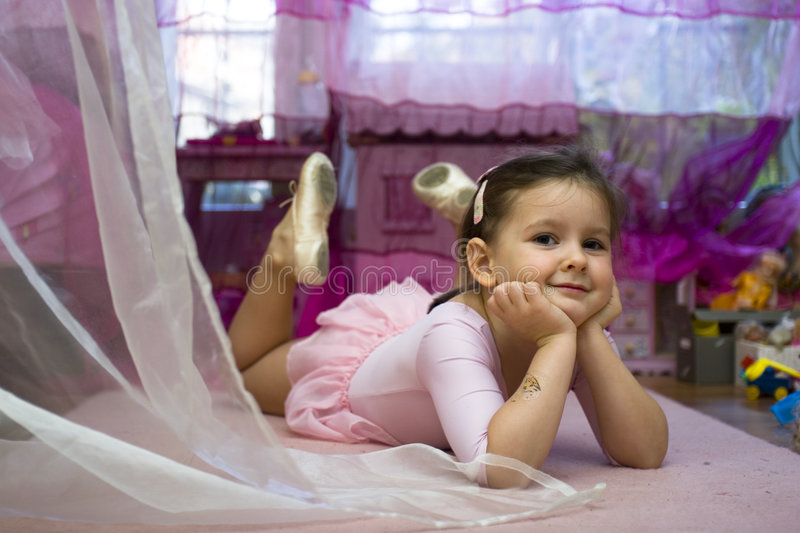 Download Sweet girl at home stock image. Image of child, girl, serenity - 4818171