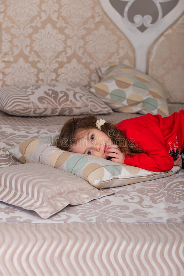 Download Sweet Girl In Pajamas Getting Ready For Bed Stock Image - Image: 83719663