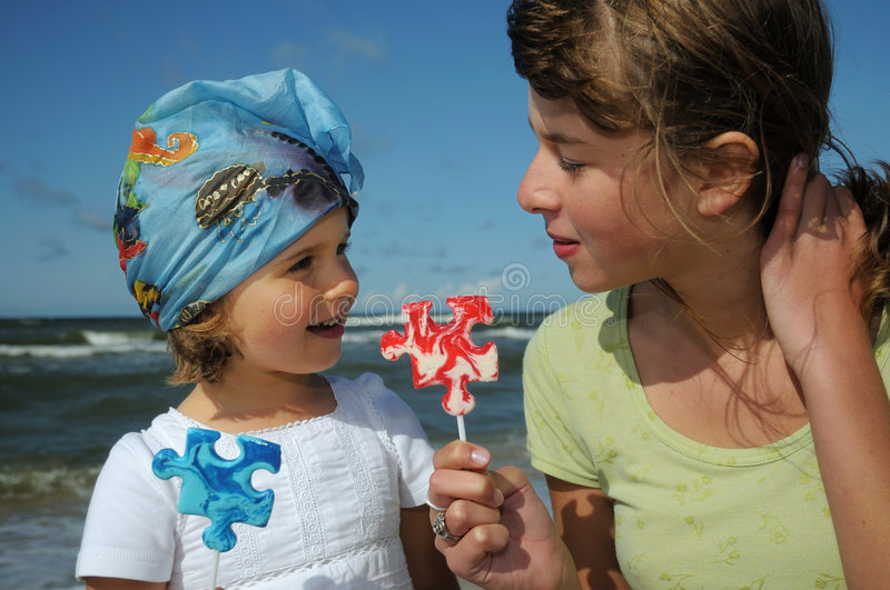Download Sweet Girls With Lollipop Stock Photography - Image: 6257862