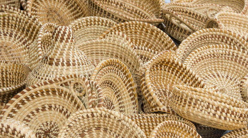 Sweet Grass Baskets stock photography