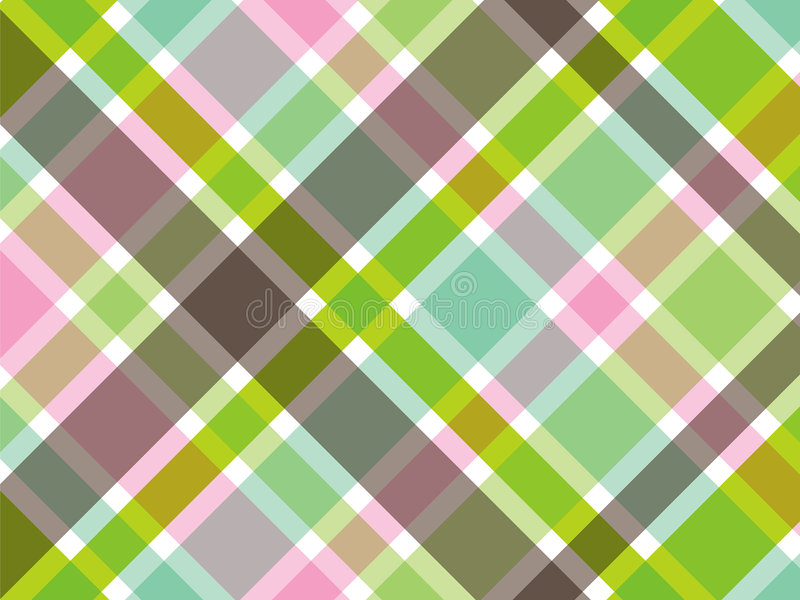 Sweet green and pink plaid stock illustration