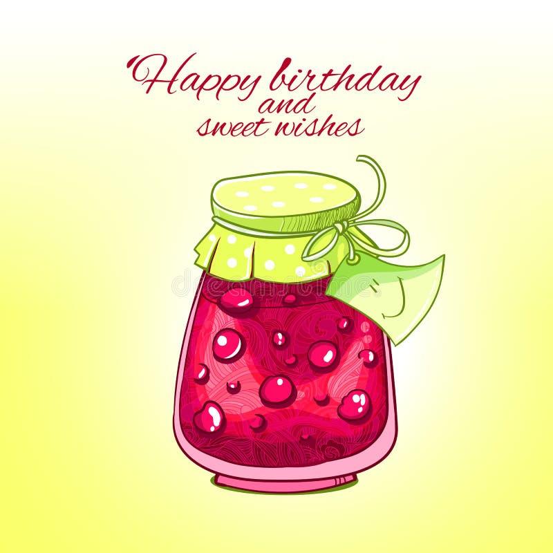 Sweet happy birthday greeting card stock vector illustration of download sweet happy birthday greeting card stock vector illustration of pattern funny 41924080 m4hsunfo