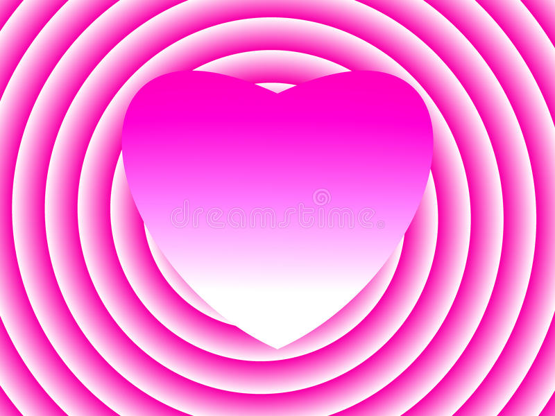 Sweet heart pink. royalty free stock photography