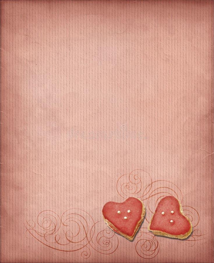 Sweet hearts background stock image