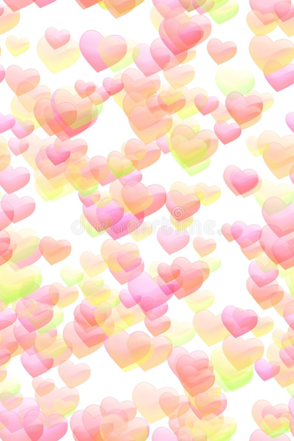 Sweet hearts background royalty free illustration