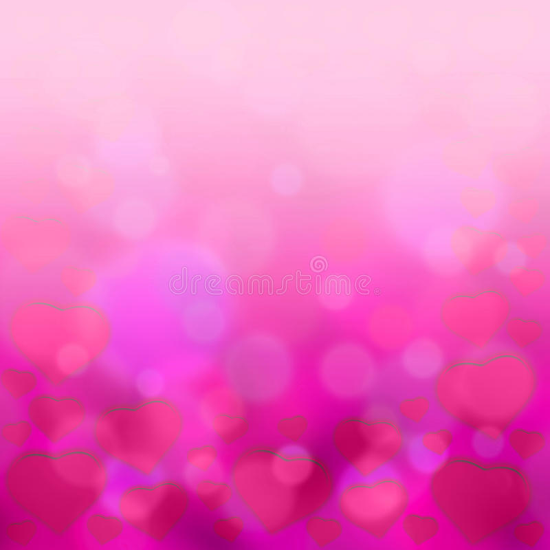 Sweet hearts backgrund. Sweet hearts with pink bokeh light backgrund vector illustration