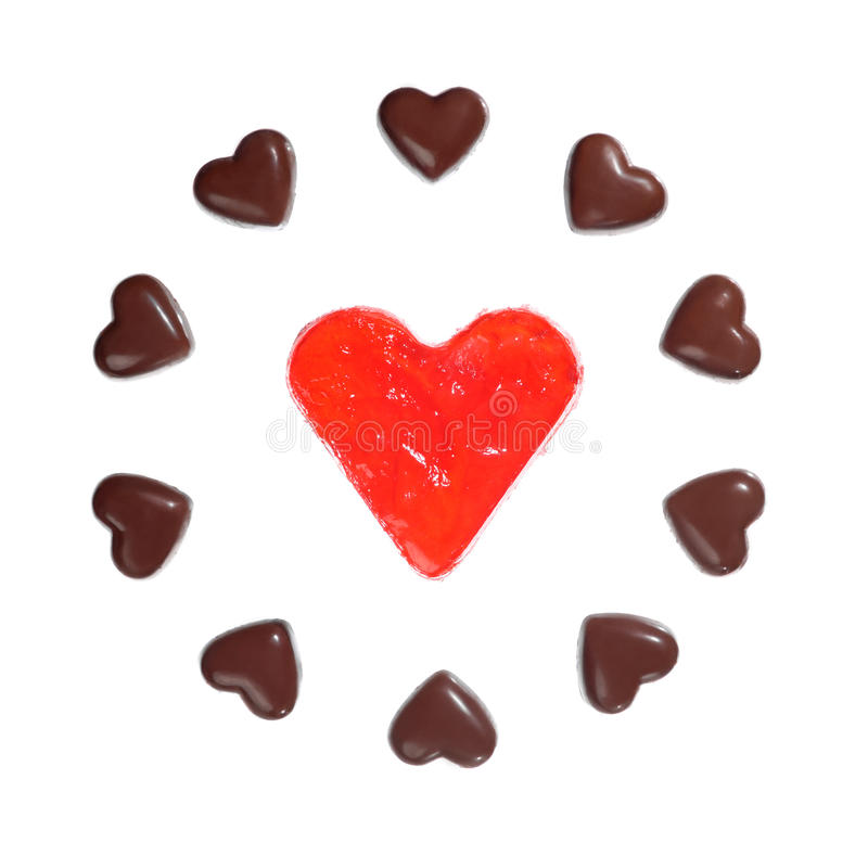Download Sweet Hearts Pattern stock image. Image of candy, chocolate - 13397465