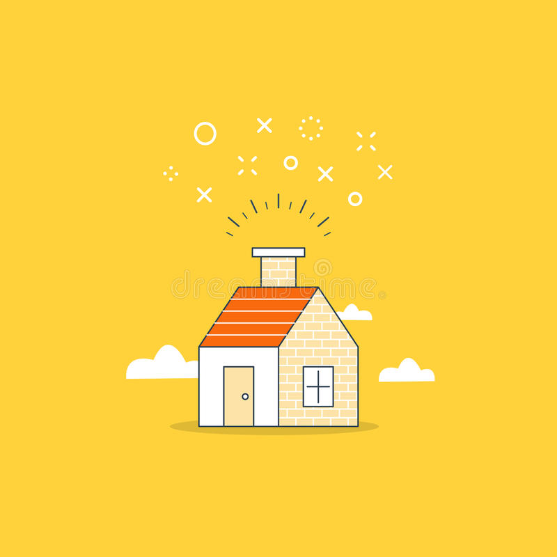 Sweet home, party in the house vector illustration